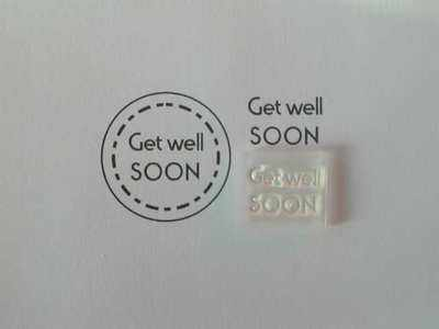 Get Well SOON, Little Words stamp