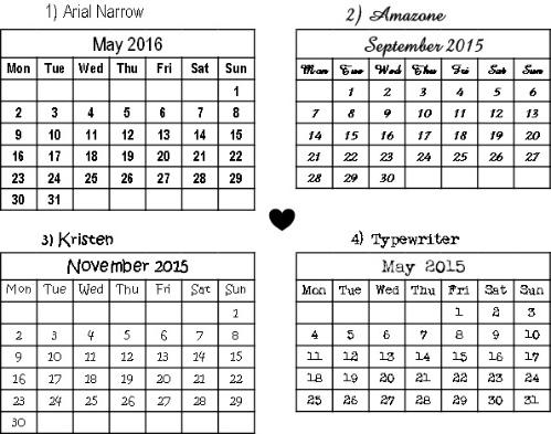 calendar stamps