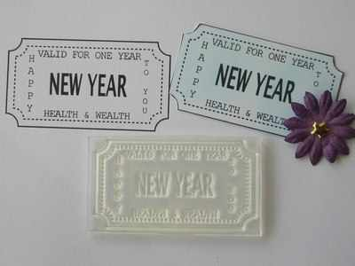 Ticket stamp, New Year