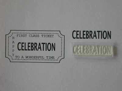 Ticket stamp option, Celebration