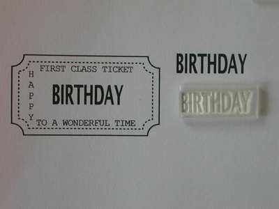Ticket stamp option, Birthday