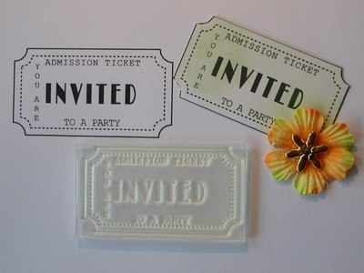 ticket stamp invited