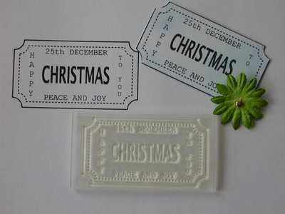 Ticket stamp, Christmas