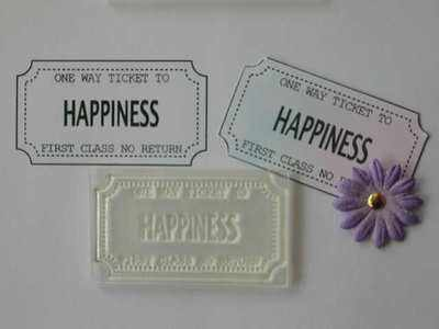 Ticket stamp, Happiness