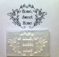 Home, sweet home flower frame stamp