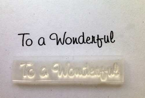 To a Wonderful, stamp 3