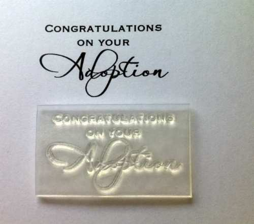 Congratulations on your Adoption, script stamp