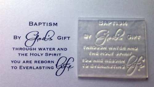 Baptism verse stamp