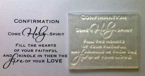 Confirmation verse stamp