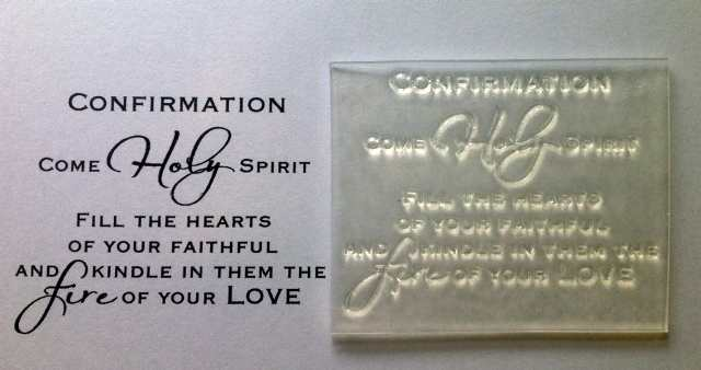 Confirmation Verse Clear Stamp