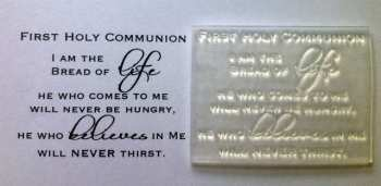 First Holy Communion verse stamp