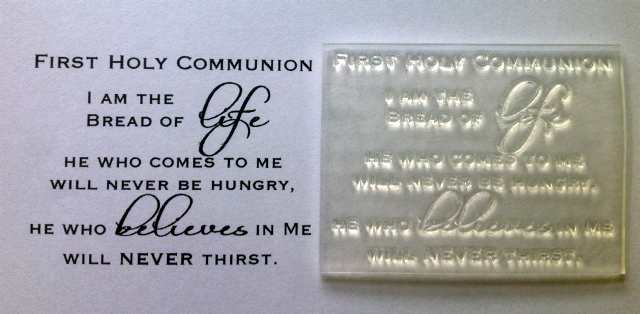 First Holy Communion Verse Clear Stamp