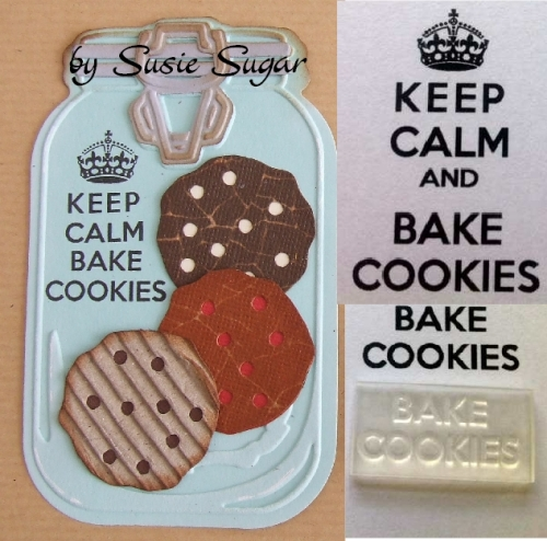 Bake Cookies, for Keep Calm and stamp