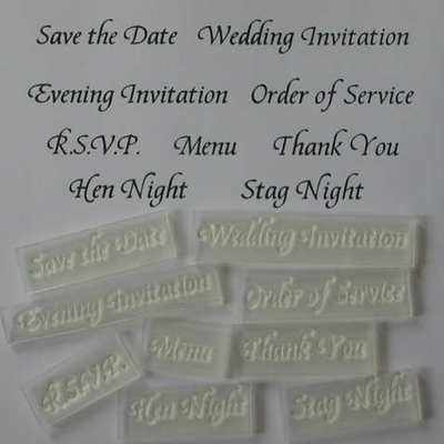 Wedding Invitation stamps, set of 9