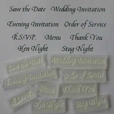 Wedding Invitation stamps, set of 9