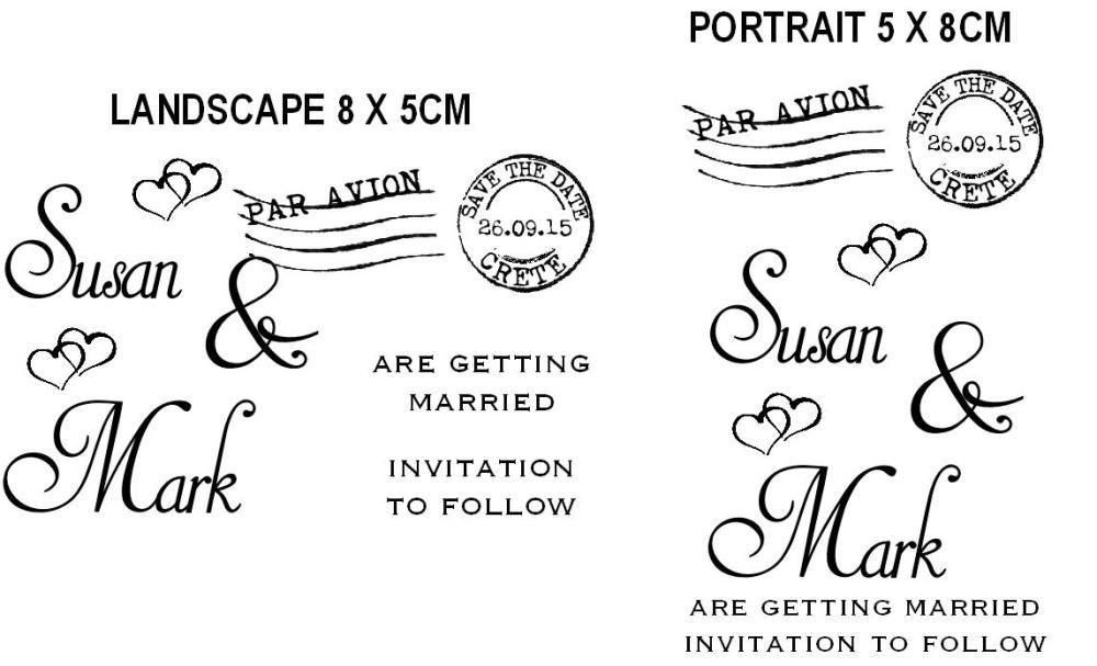 Save the Date custom stamp