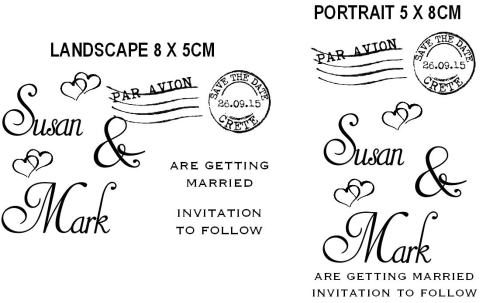 Save the Date custom stamp