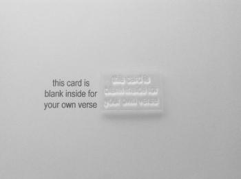Card maker's stamp, blank inside