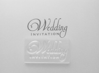 Wedding Invitation, 2 line stamp