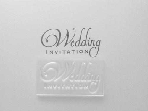 Wedding Invitation 2 line clear stamp