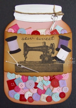 Sew Sweet, wavy stamp