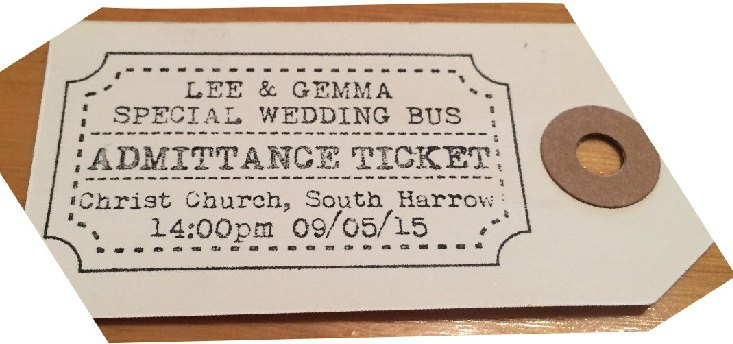 wedding ticket stamp