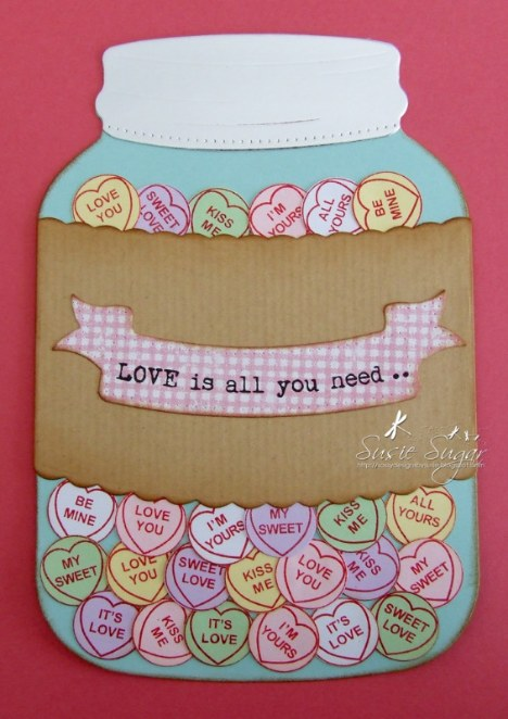 love hearts jar