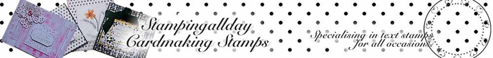 Stampingallday Cardmaking Stamps, site logo.