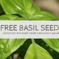 Free Basil seeds with every order throughout January