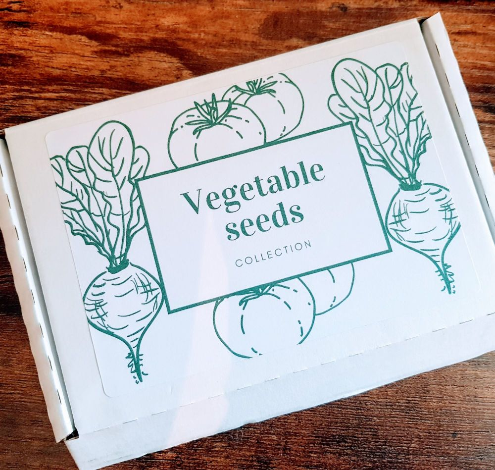 Vegetable seeds grow your own box ideal gift for the gardener in your life