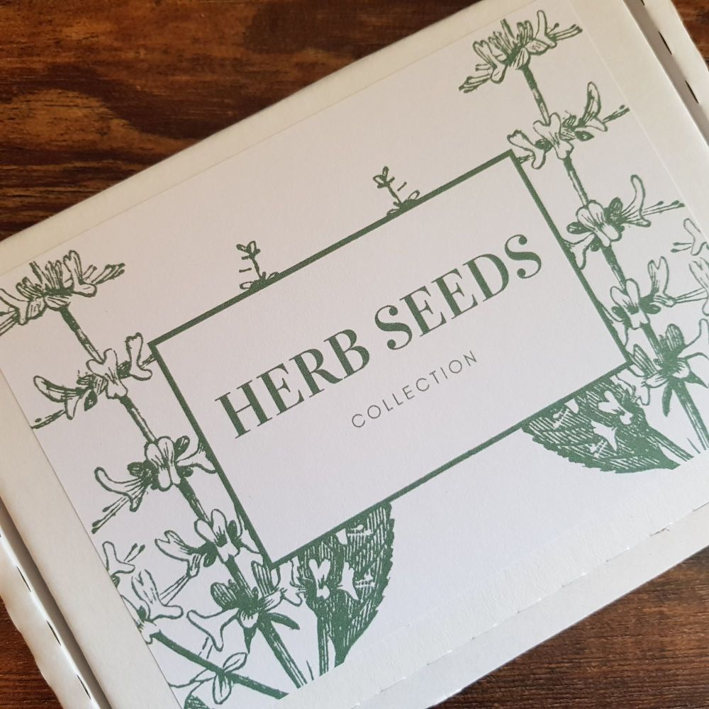 Herb seeds grow your own box ideal gift for birthday, fathers day, xmas [00