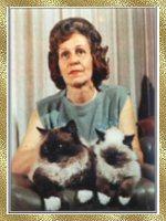 Ann Baker holding Kyoto & Kookie Tu
