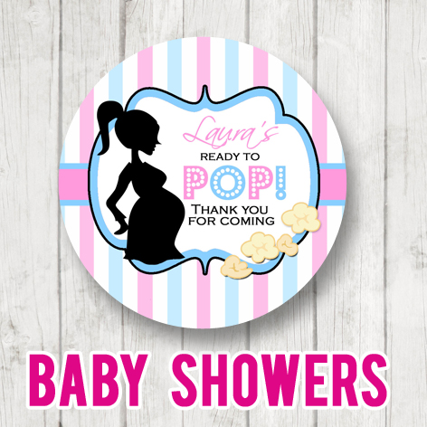 Personalised Baby Shower Party Stickers