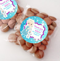 Frozen Snow Princess personalised BIRTHDAY party bags fillers sweet bags KITS x12