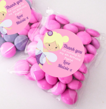 Fairy Personalised BIRTHDAY PARTY sweet Treat bags favours KITS x12
