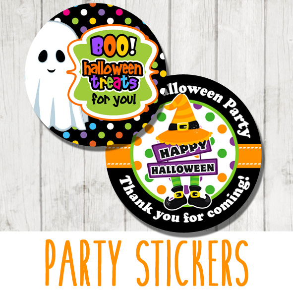 Personalised Halloween Party Stickers