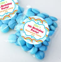 Bright Rainbows personalised BIRTHDAY party bags fillers sweet bags KITS x12