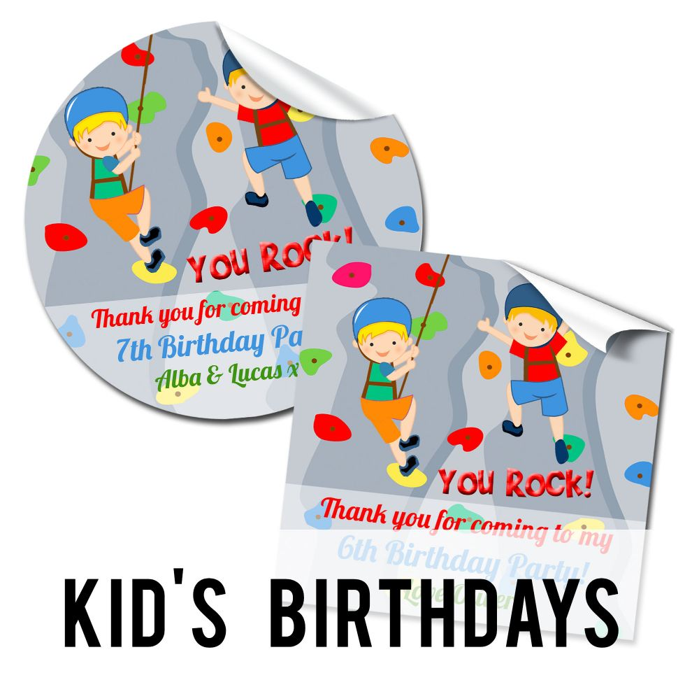 Childrens Stickers & Favours