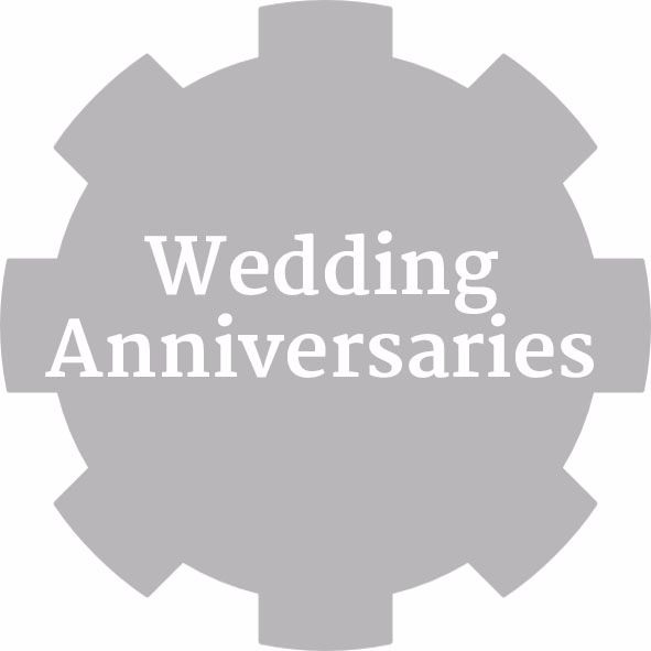 Wedding Anniversary Party stickers & Favours