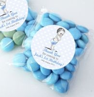 Baby Boy Vintage personalised BIRTHDAY party bags fillers sweet bags KITS x12