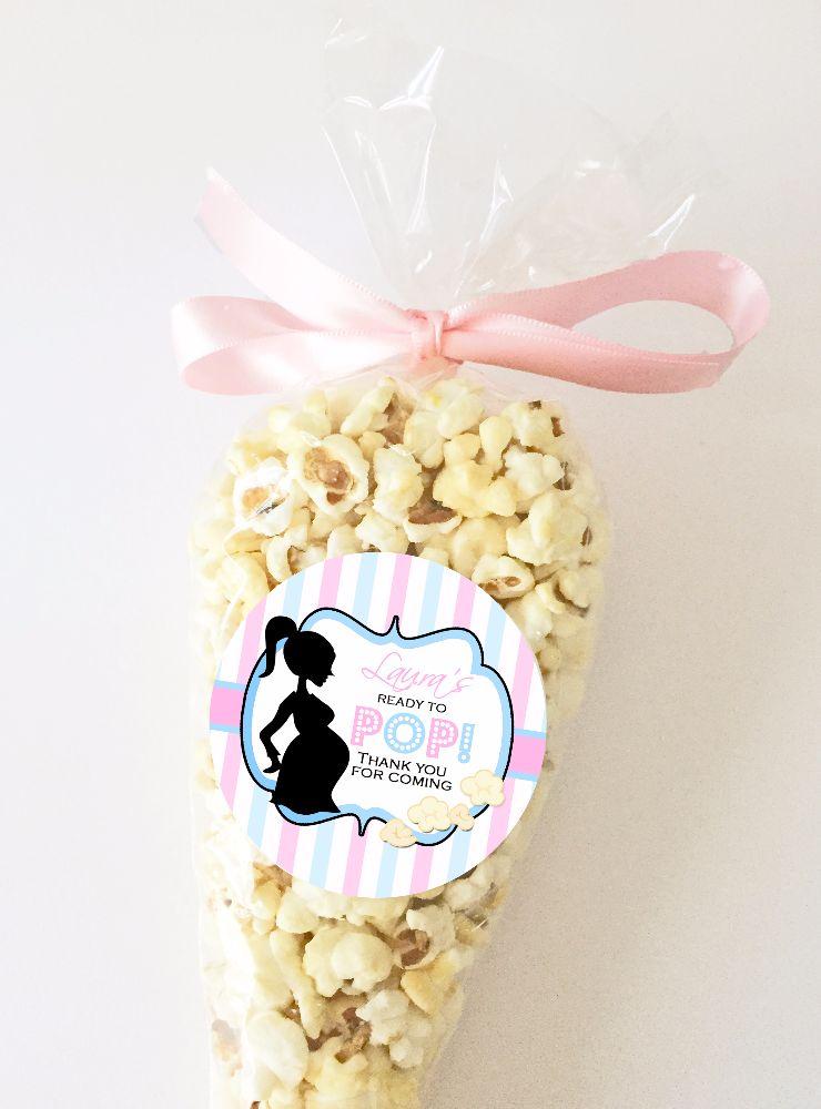 Baby shower popcorn kits