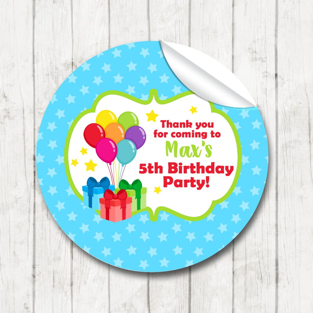 Childrens Birthday Party Stickers