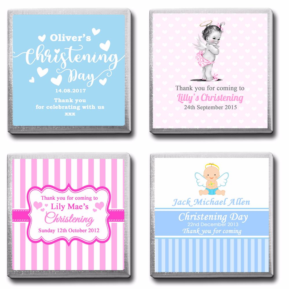 Personalised Christening Milk Chocolates Favours