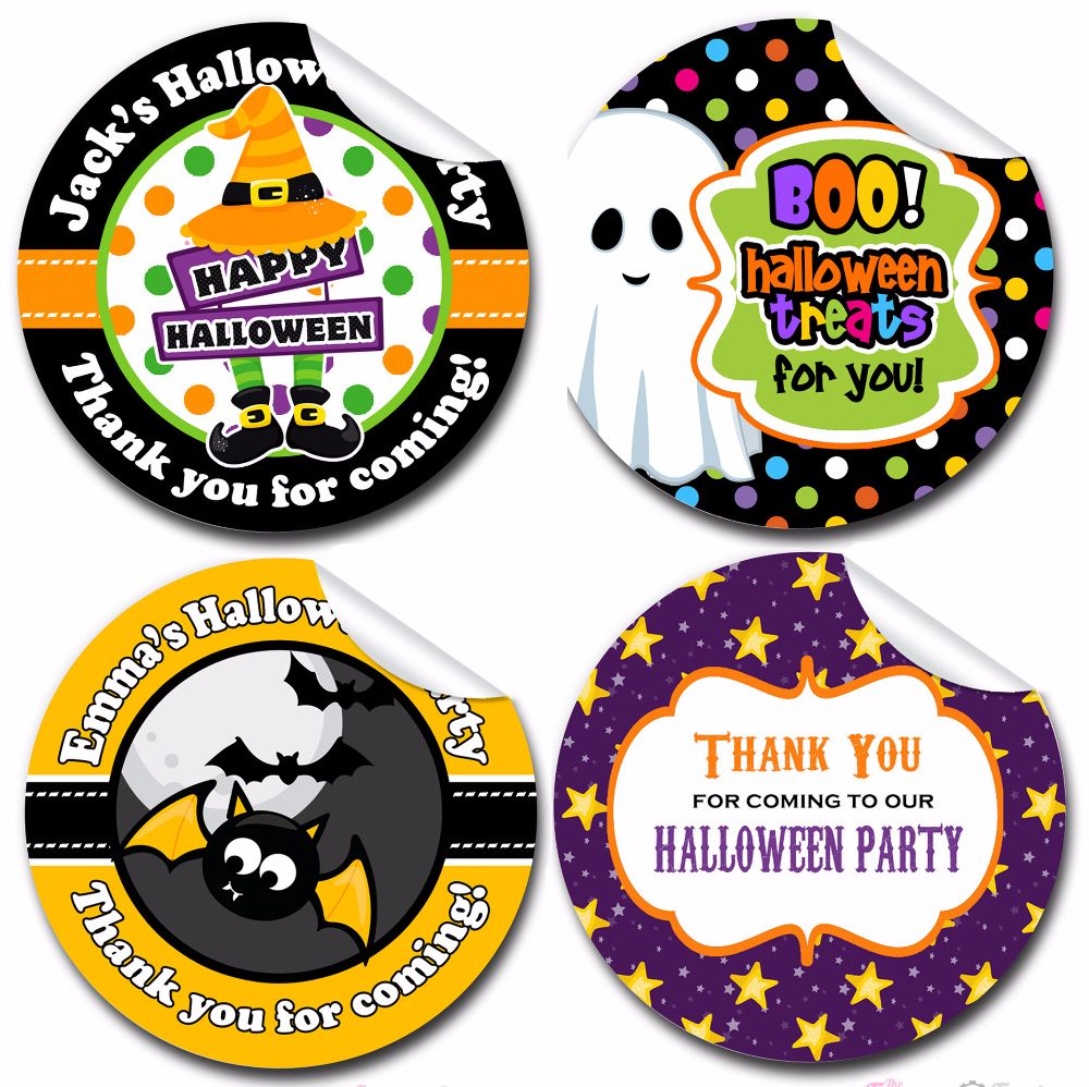 Halloween Stickers Labels