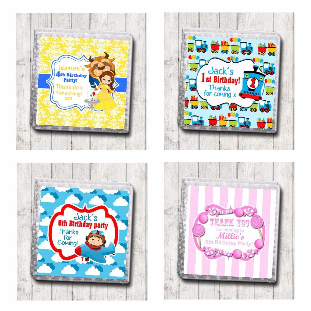 Children's Birthday Party Chocolates