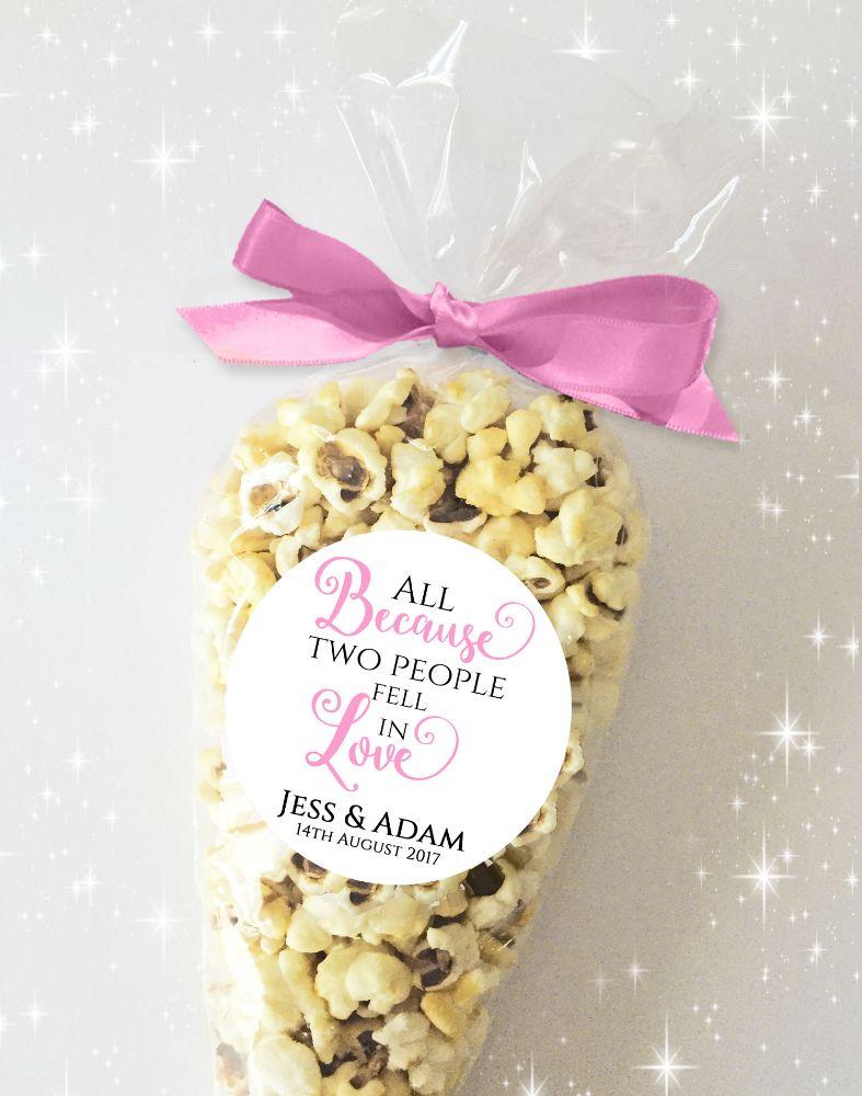 Wedding Day Sweets Popcorn Cones