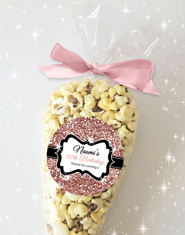 Adult Birthday Party Sweets Popcorn Cones