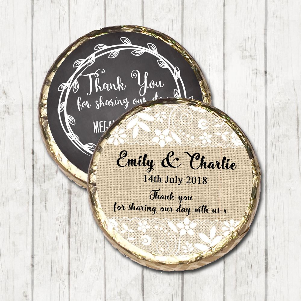 Personalised Wedding Day Mint chocolates Favours