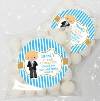 Boy Blonde Personalised Holy Communion sweet bags favours kits  x12