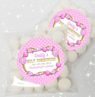 Candy sweets Pink Personalised Holy Communion sweet bags favours kits x12